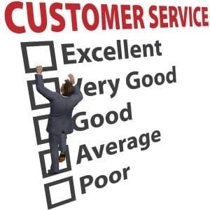 good customer service rating