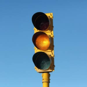 DISC profitle tests predict how people respond to yellow traffic light
