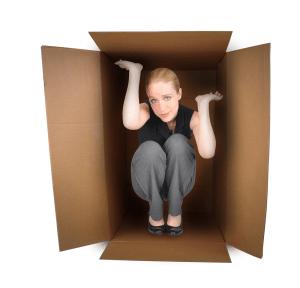employee in box