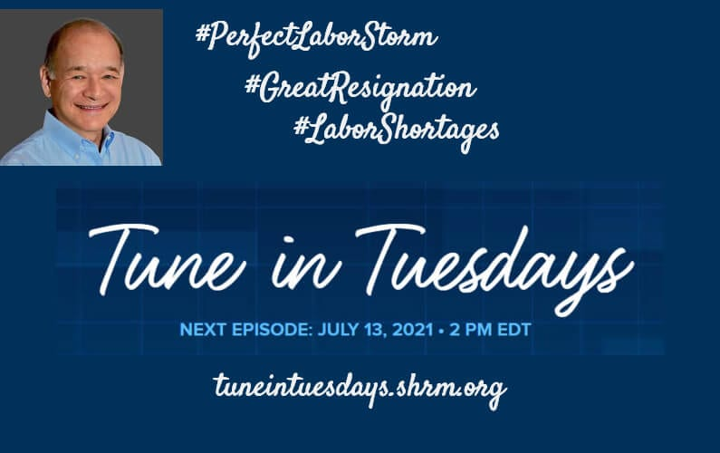 Perfect Labor Storm Author Ira S Wolfe joins this month's Tune in Tuesdays (SHRM)